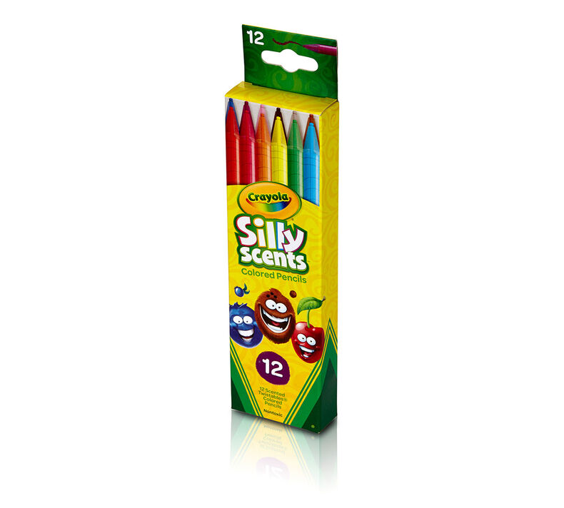 Silly Scents Twistables Colored Pencils, Sweet Scents, 12 Count