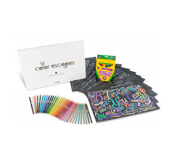 Color Escapes Adult Coloring Kit, Chalkboard Effects