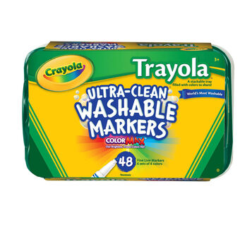 Ultra-Clean Markers, Fine Line, Trayola, 48 Count