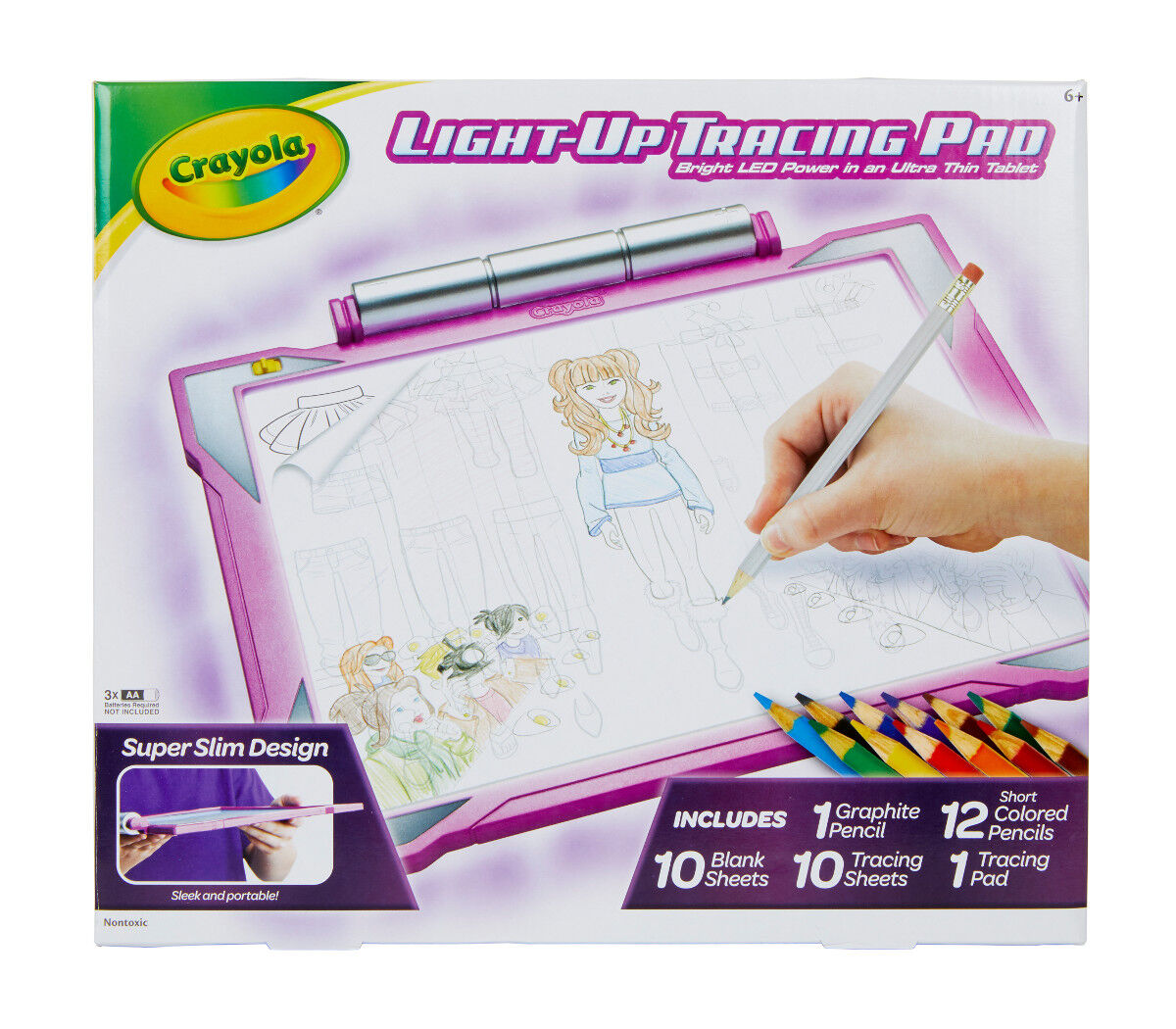 3-in-1 Activity Pad Construction Paper//Tracing Paper//Scribble Paper