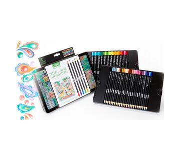 Signature Series 50 count Bend and Shade Colored Pencils Tin and Pencils