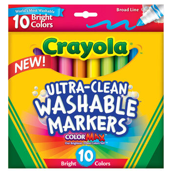 Ultra-Clean Markers, Broad Line, Bright, 10 ct.