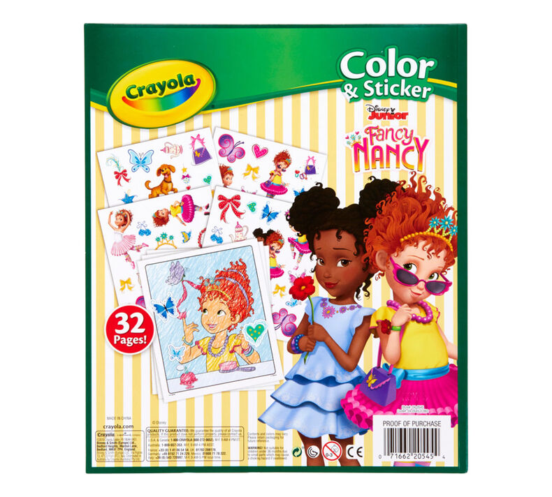 Fancy Nancy Color and Sticker Book