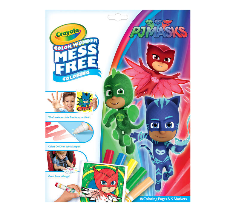 Color Wonder Mess Free PJ Masks Coloring Pages & Markers