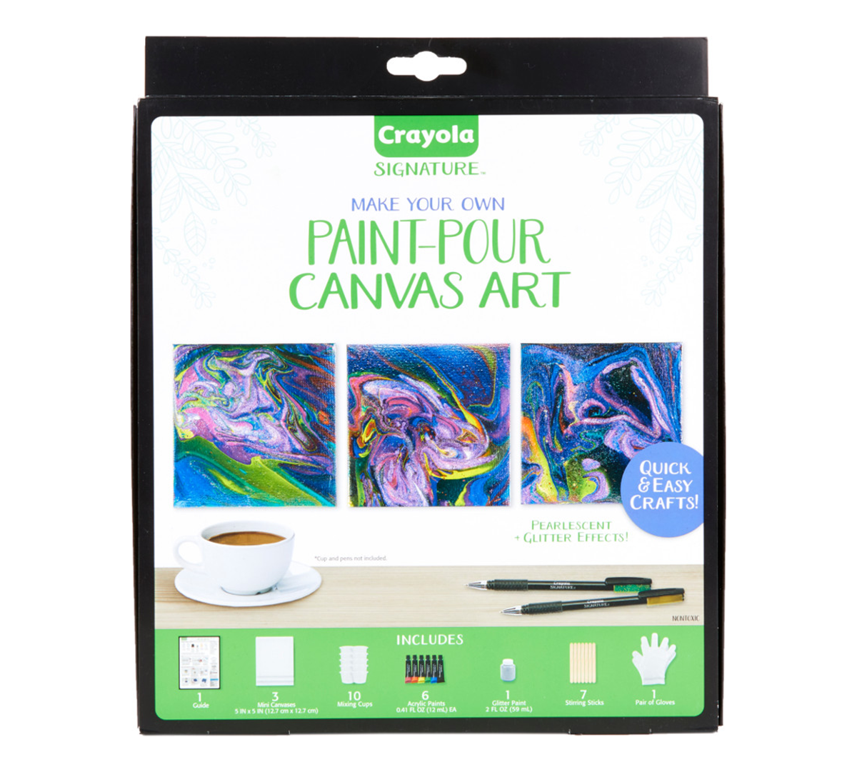 Mini Canvas Painting Kit, DIY Marbleizing | Crayola com | Crayola