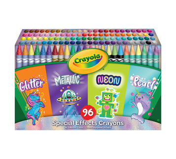 Special Effects Crayon Set, 96 Count Front View of Box
