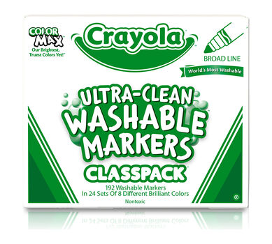 Ultra-Clean Washable Markers for Kids, 192 Count