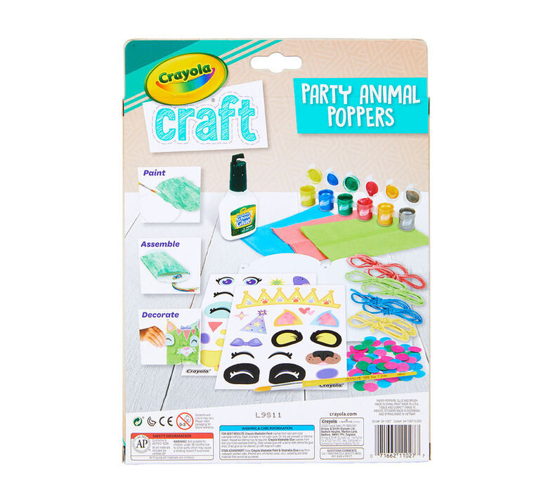 Crayola Craft Animal Party Poppers Craft Kit