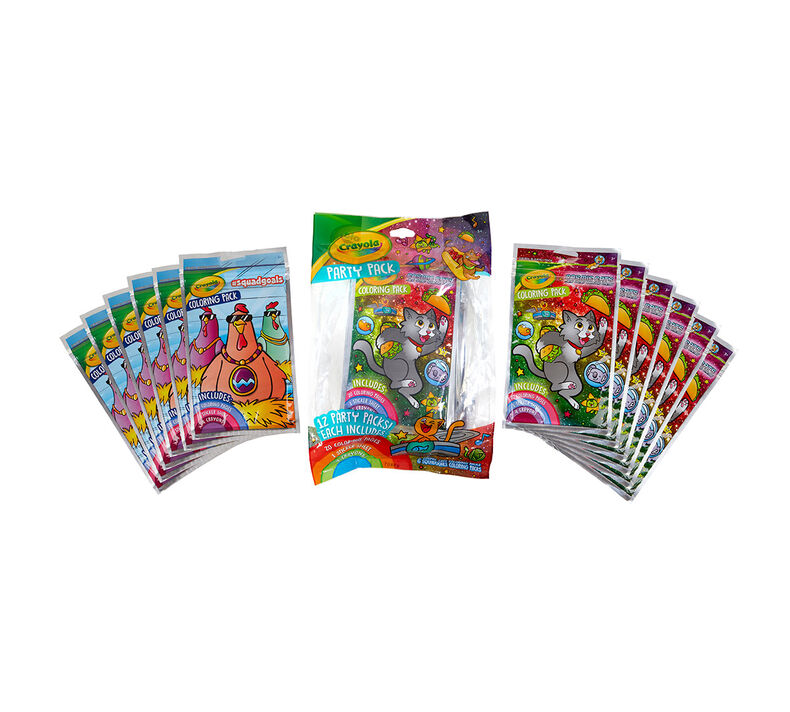 Coloring Book Party Favors, Cosmic Cats & Squad Goals, 12 Count