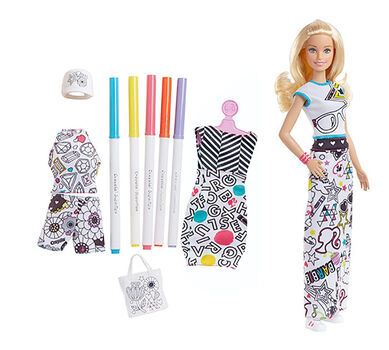 Barbie® Crayola Color-in Fashion Doll and Fashions