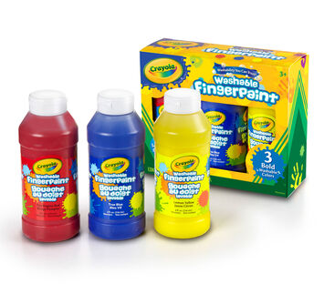 Washable Bold Fingerpaint, Primary Colors 3 ct.
