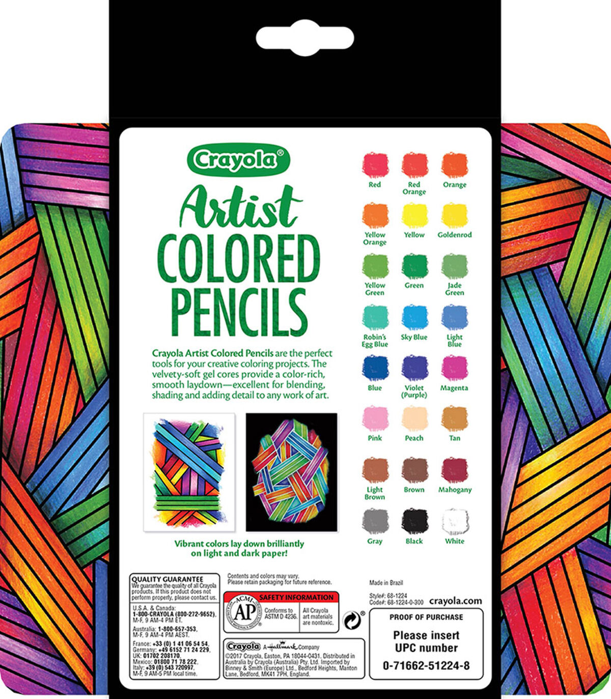 Artist Colored Pencils W Tin