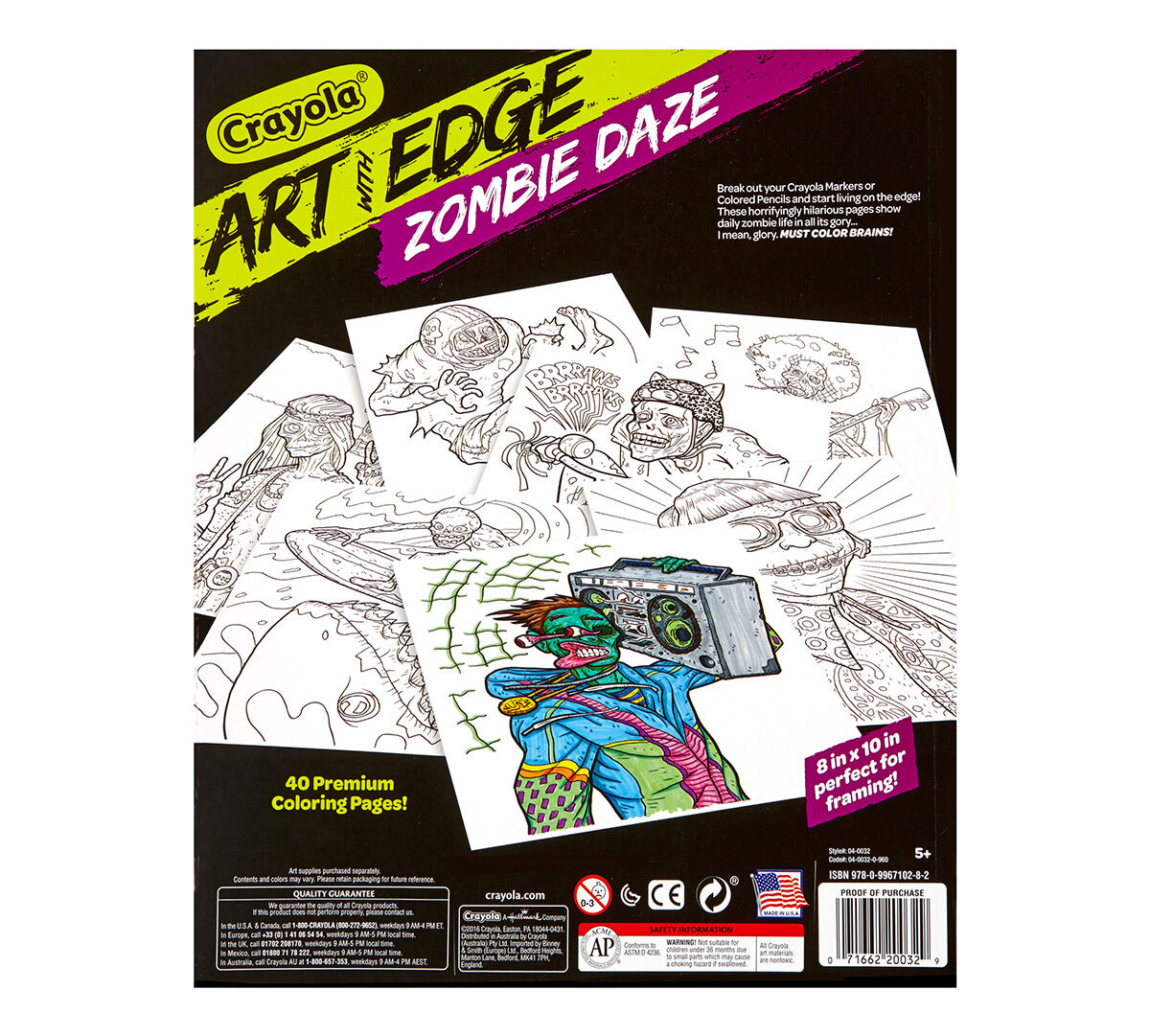 Art with Edge, Zombie Daze - Crayola