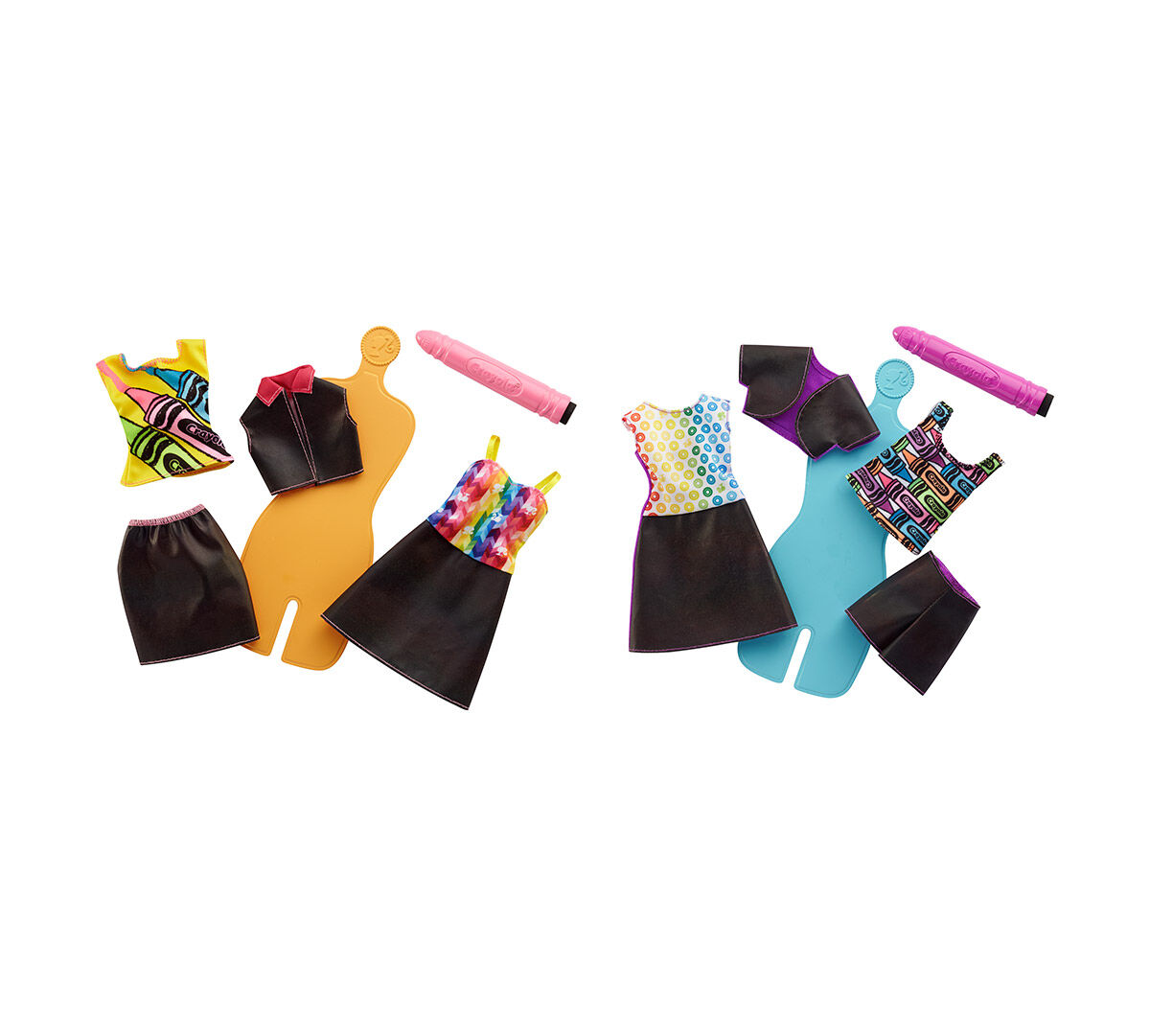 Crayolabarbie Crayola Rainbow Design Fashion Set Dailymail