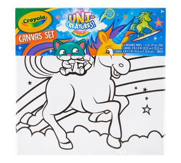 Uni-Creature Canvas Craft Kit Front View of Package