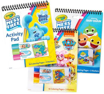 3-in-1 Color Wonder Mess Free Blue Activity Pad Set