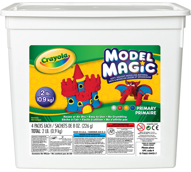 Model Magic 2lb Resealable Storage Container, Assorted Colors