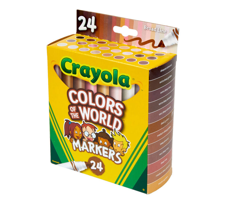 Colors of the World Washable Skin Tone Markers, 24 Count