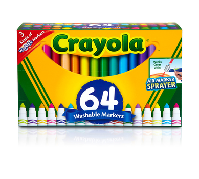 Broad Line Markers, 64 Count Variety