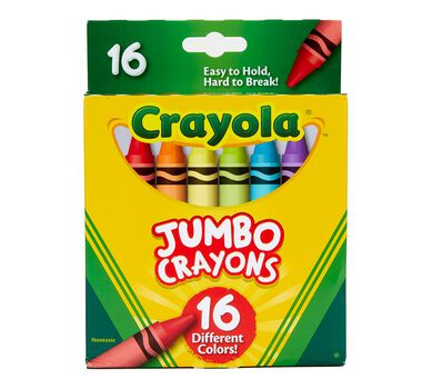 crayola jumbo crayons for toddlers coloring supplies 16ct