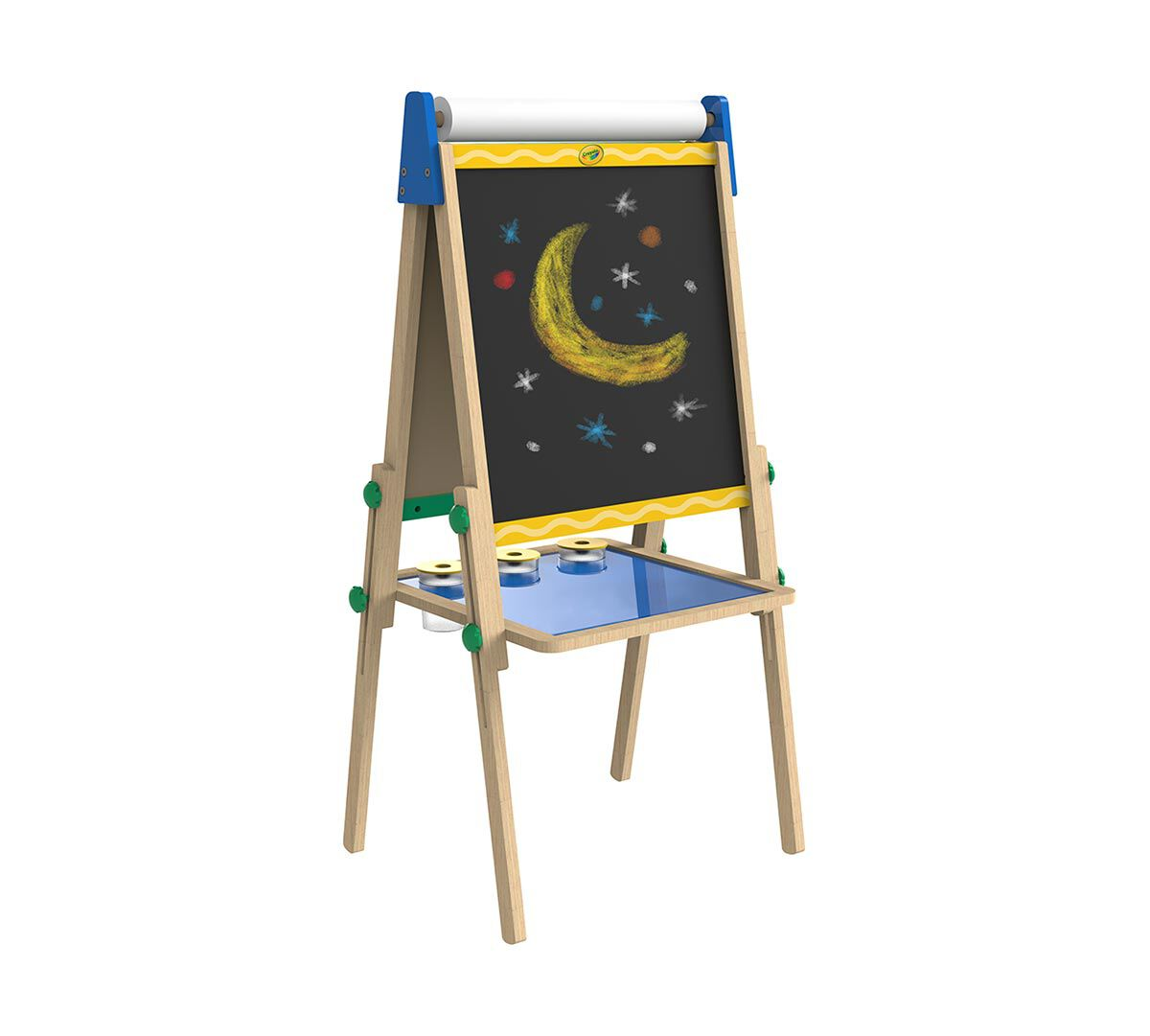 crayola kid s wooden easel dry erase board chalkboard gift for