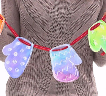 Watercolor Resist Mitten Garland Craft Kit