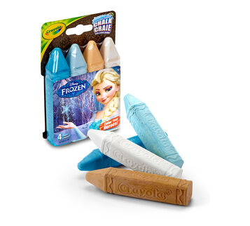 Frozen Washable Sidewalk Chalk - Color Your Heroes!, 4 count