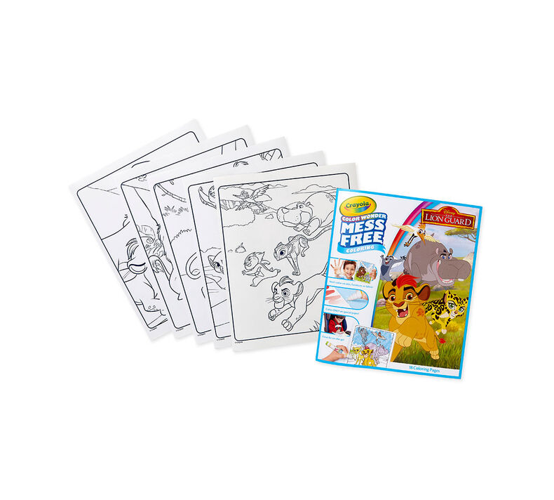 Color Wonder Mess Free Refill Book, Lion Guard