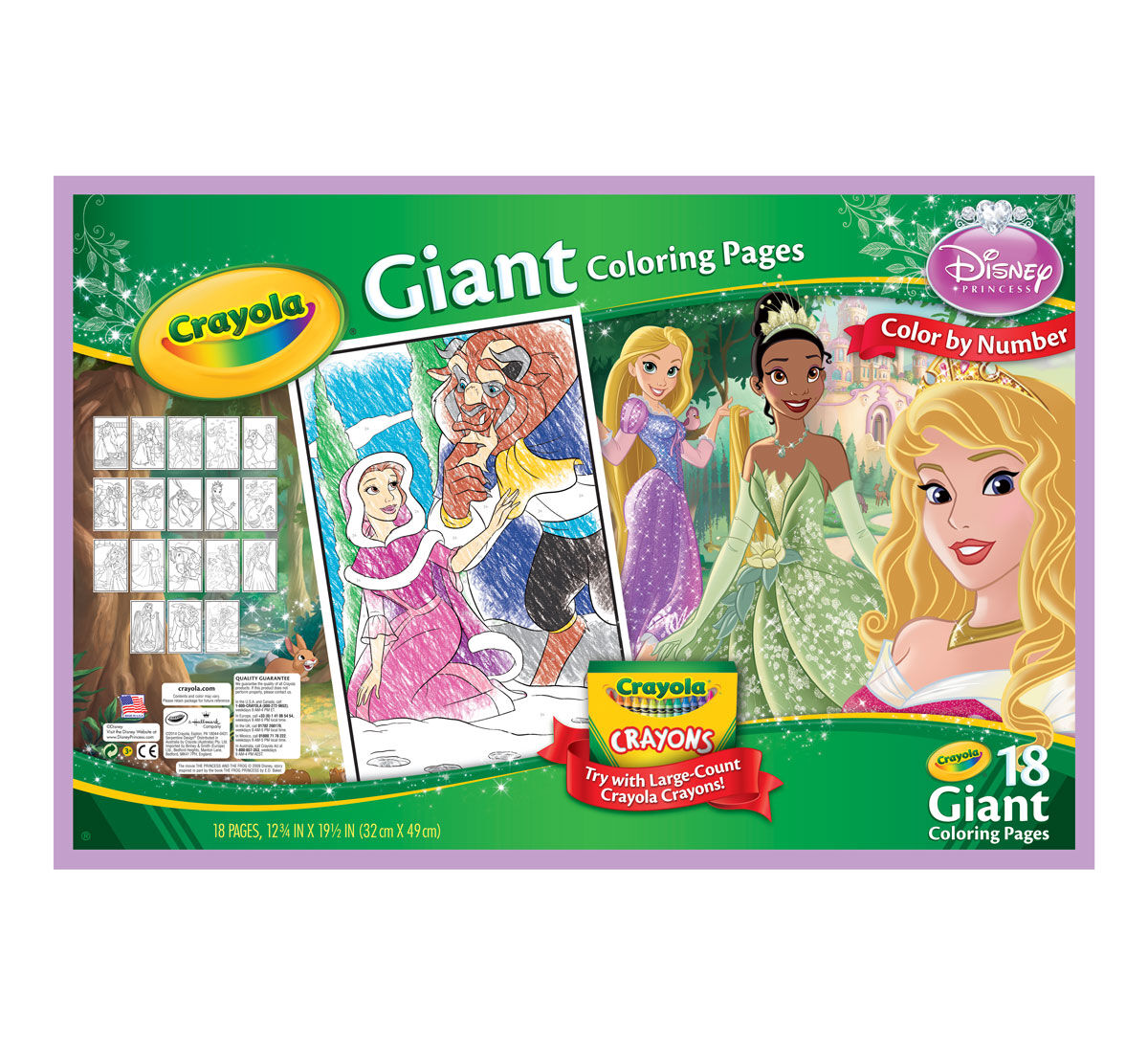 Giant Coloring Pages Disney Princess Crayola