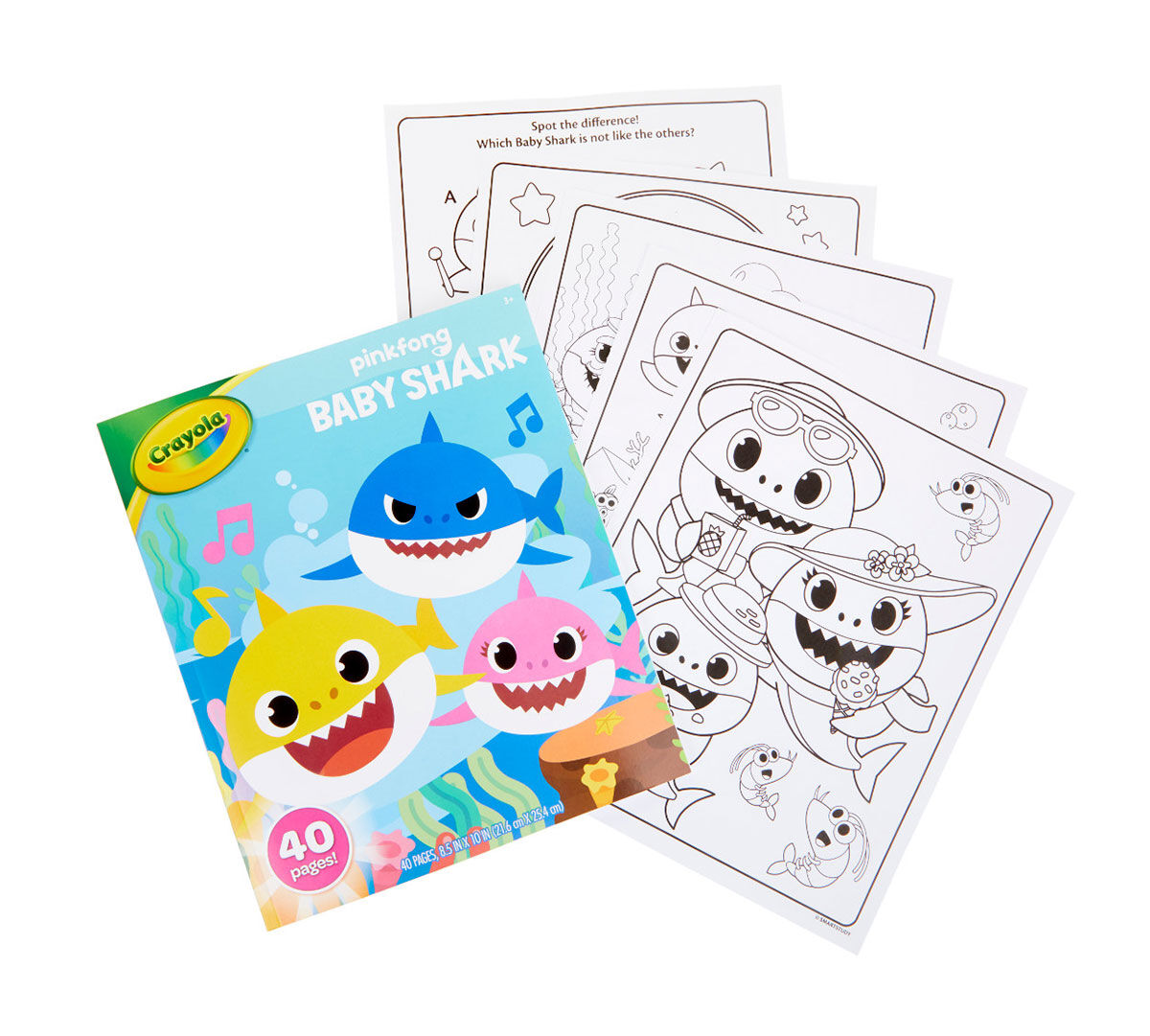 Baby Shark Coloring Book 40 Coloring Pages Crayola com