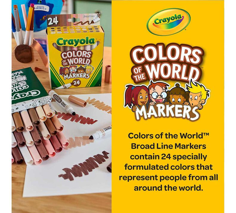 Colors of the World Bulk Marker Set, 6 Boxes of 24 Count Markers