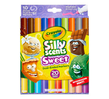 Silly Scents Sweet Dual-Ended Markers, 10 Count Front View