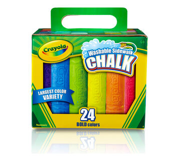 Washable Sidewalk Chalk 24 count front