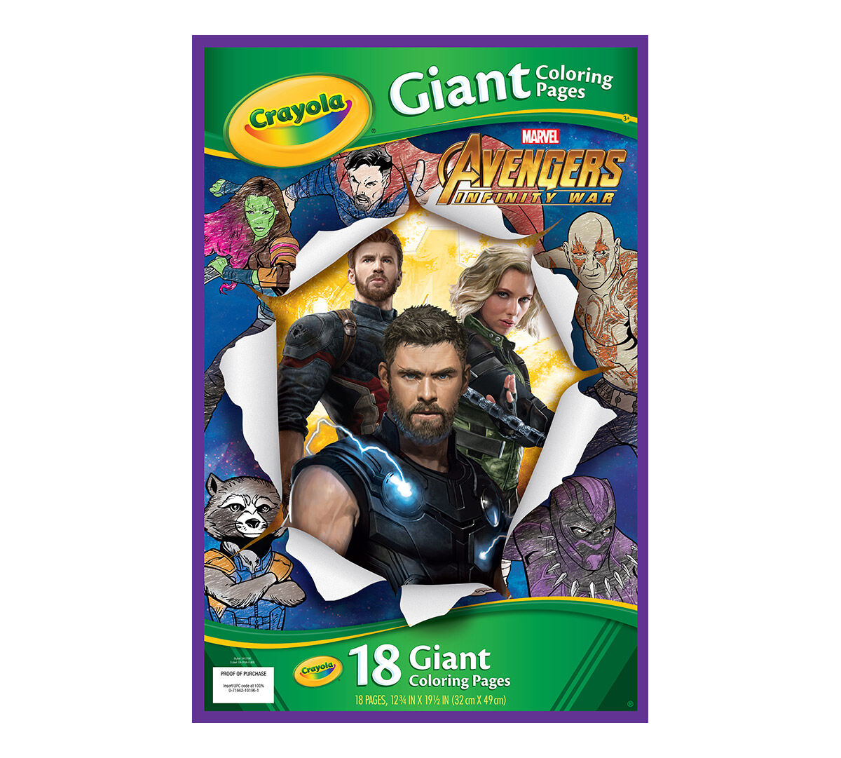 Giant coloring page avengers