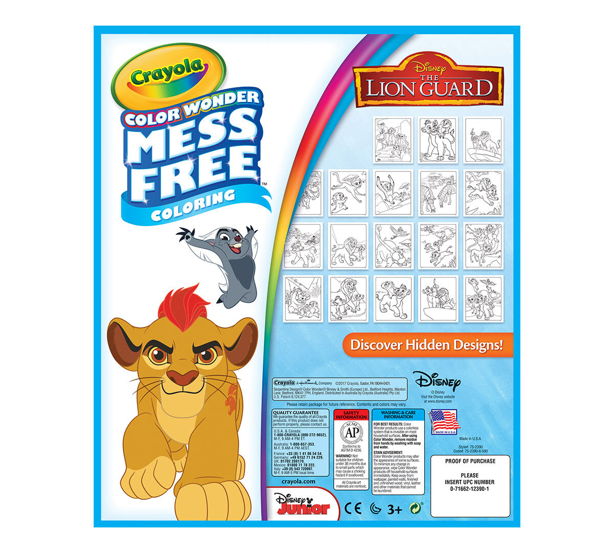 Crayola Mess-Free Color Wonder, Lion Guard, 18 Coloring Pages, Art ...