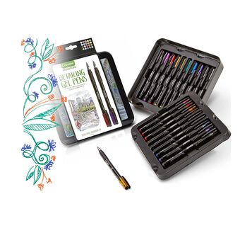 Signature Detailing Gel Pens packaging and pens