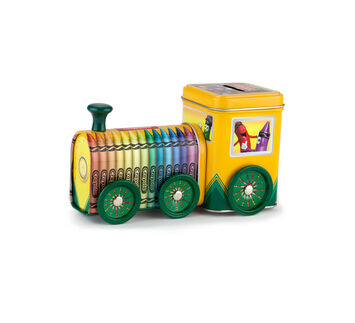 Crayola Train Storage Tin and Bank
