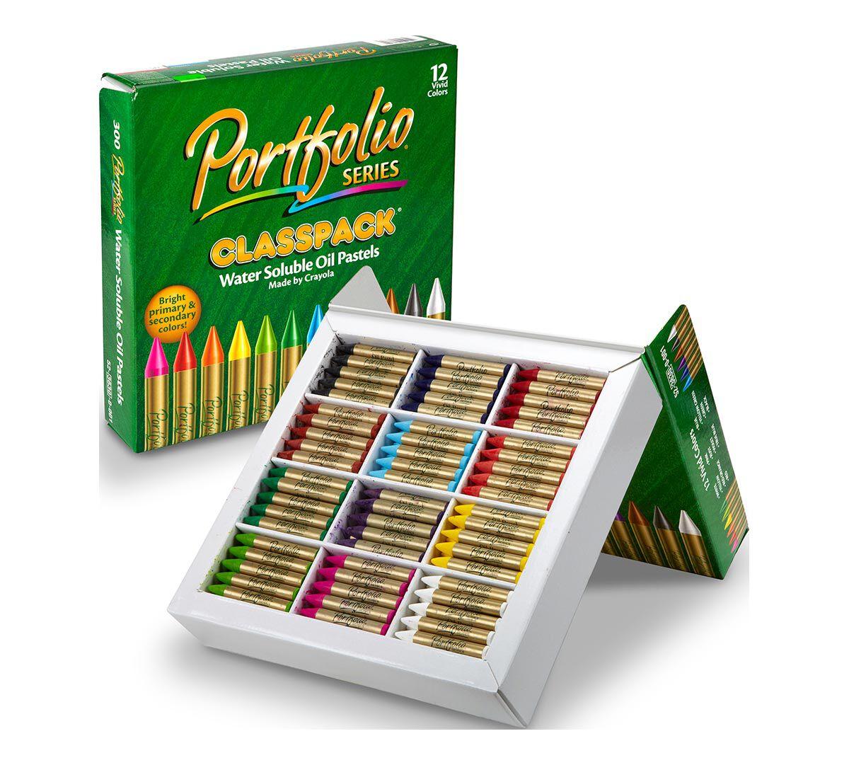 Oil Pastel Classpack, 300 Count, 12 Colors