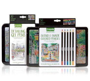 Signature Gel Pens & Colored Pencils Set