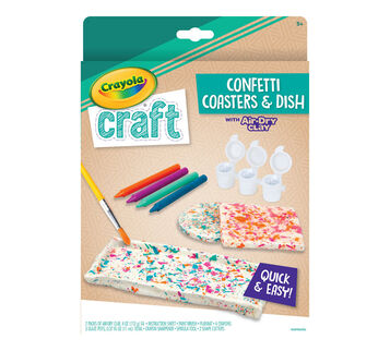 Crayola Craft Confetti Coasters & Dish Craft Kit