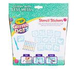 Glitter Dots Stencil Stickers Front View