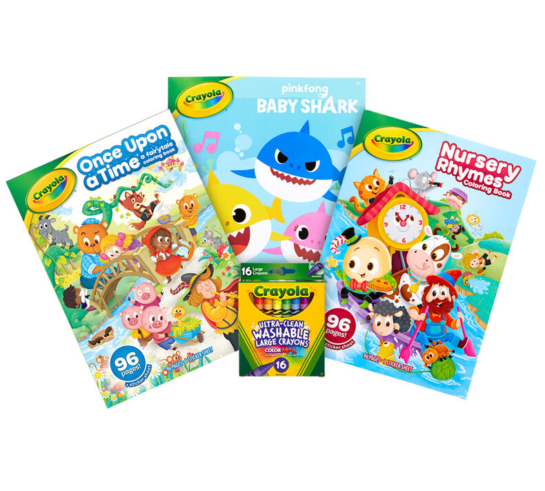 3-in-1 Toddler Coloring Book Set with Large Crayons