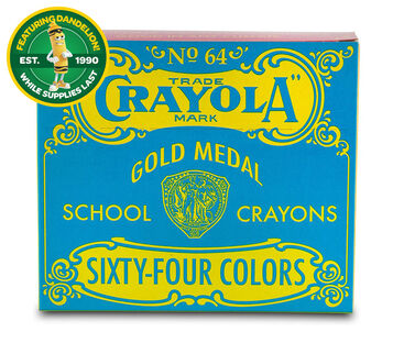 Pop Art Vintage Box of 64 Crayons