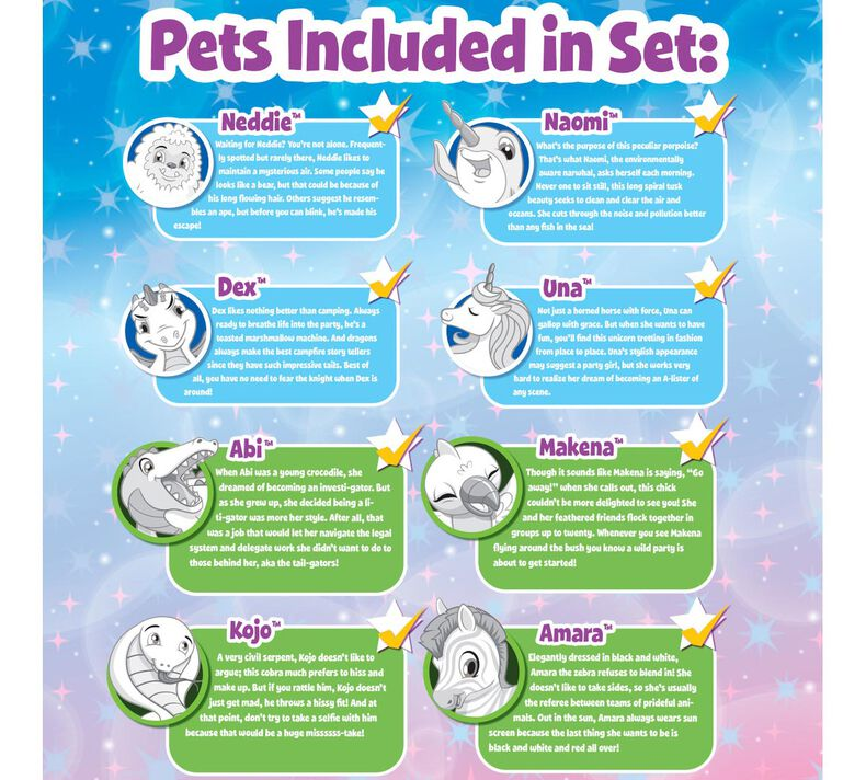Scribble Scrubbie Peculiar Pets Zoo Set