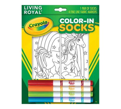 Crayola Color In Socks Unicorn Land