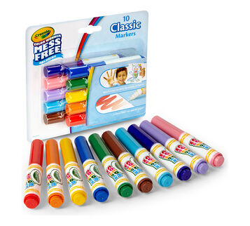 Color Wonder Mess Free Mini Markers, Classic Colors, 10 Count