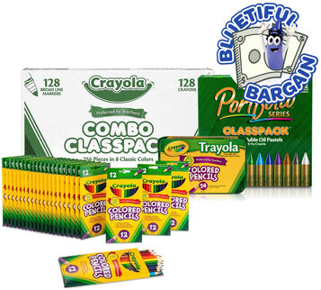 Classroom Coloring Supplies Value Set Front View
