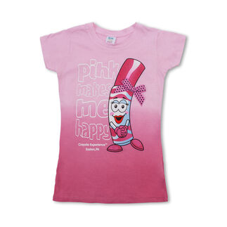 Crayola Ombre Pip-Squeak Character T-Shirt with Bow