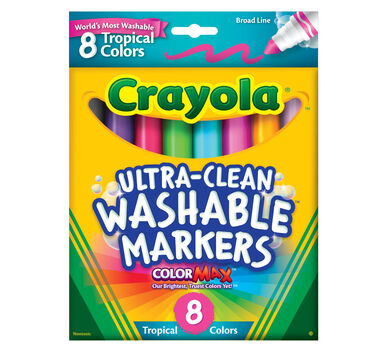 Ultra Clean Markers, Broad Line, Tropical, 8 Count
