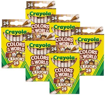 Colors of the World Skin Tone Crayons, 24 Count, 6 Pack